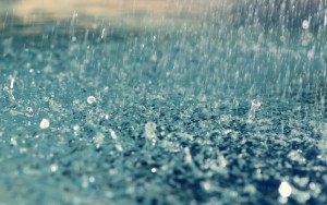 A raindrop falling from such a height could normally reach a very destructive speed.