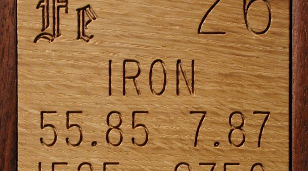 The Atomic Number of Iron