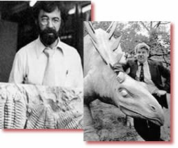 Two famous proponents of the punctuated evolution model: Stephen Jay Gould and Niles Eldredge.