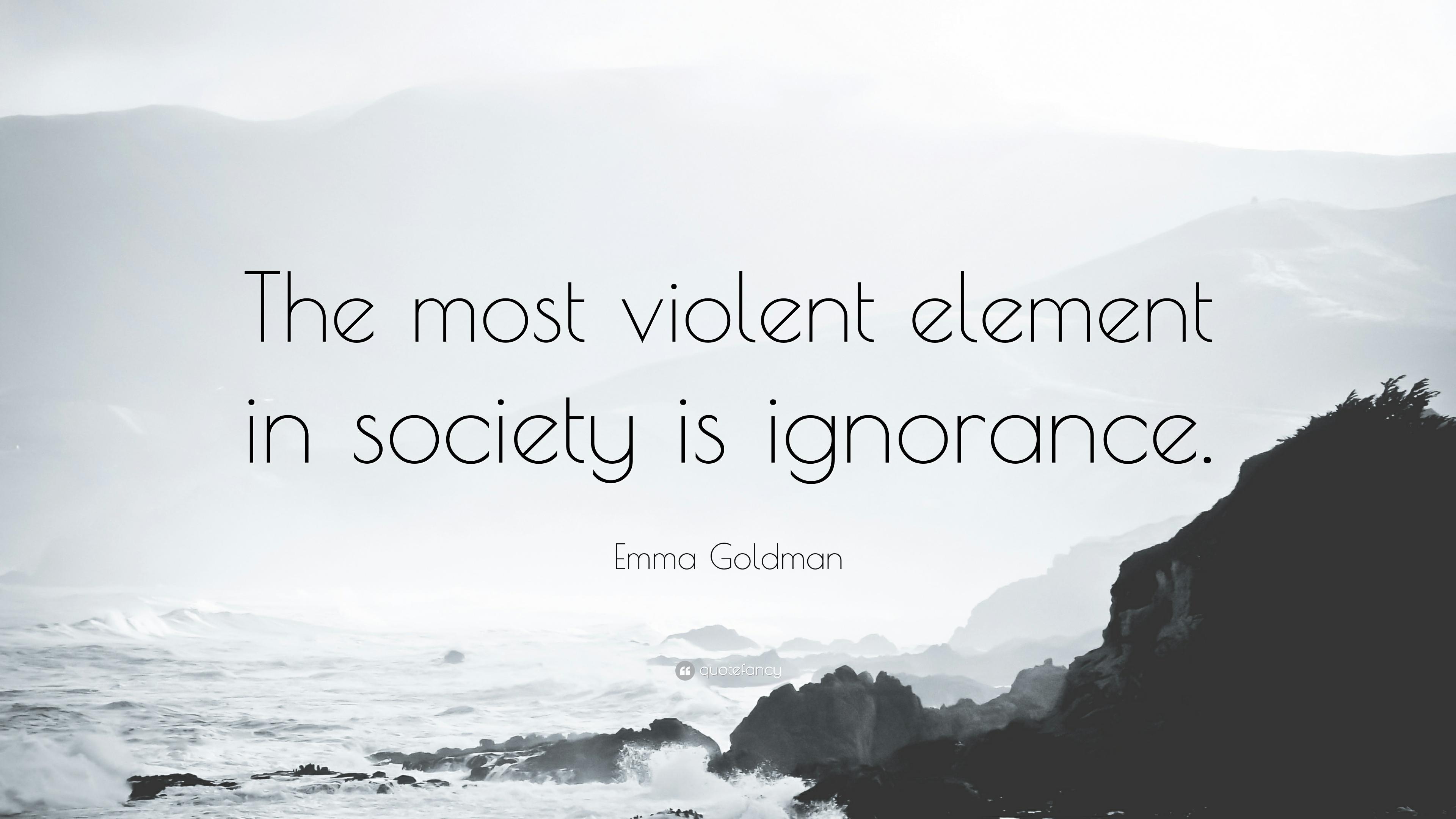 Ignorant Societies